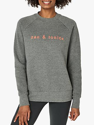 Sweaty Betty Brixton Slogan Sweatshirt, Charcoal Grey
