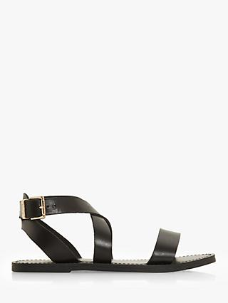 Dune Leelah Leather Cross Over Strap Sandals