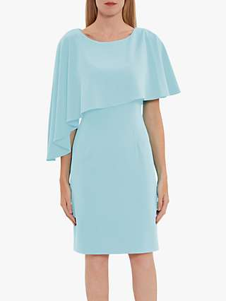 Gina Bacconi Korina Asymmetric Cape Dress