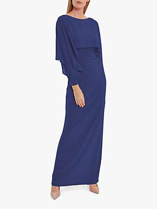 Gina Bacconi Ionela Jersey Maxi Cape Dress