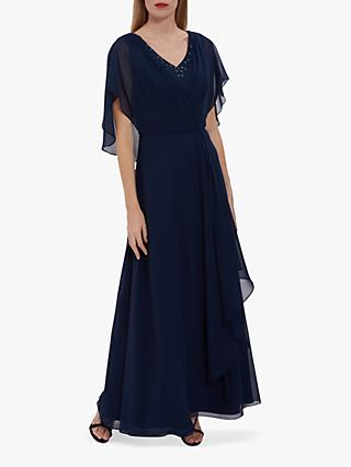 Gina Bacconi Maylee Beaded Neckline Maxi Dress