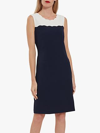 Gina Bacconi Olivina Yoke Mini Dress, Spring Navy