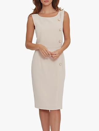 Gina Bacconi Mykia Crepe Midi Dress