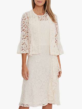 Gina Bacconi Kate Corded Lace Bolero Jacket, Summer Ivory