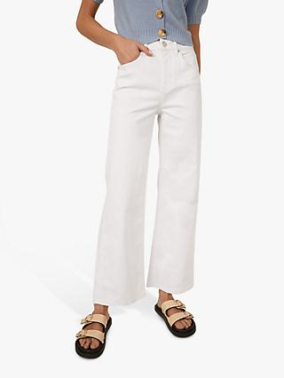 Warehouse Wide Leg Jeans, White