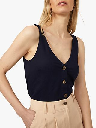 Warehouse Front Button V-Neck Vest