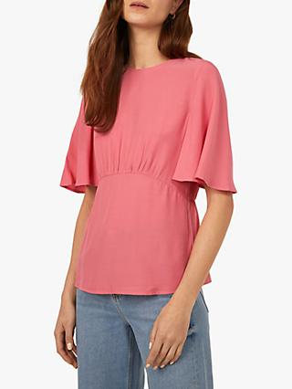 Warehouse Angel Sleeve Top, Light Pink