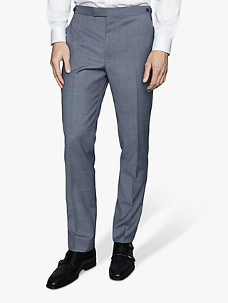 Reiss Climate Textured Weave Suit Trousers, Airforce Blue