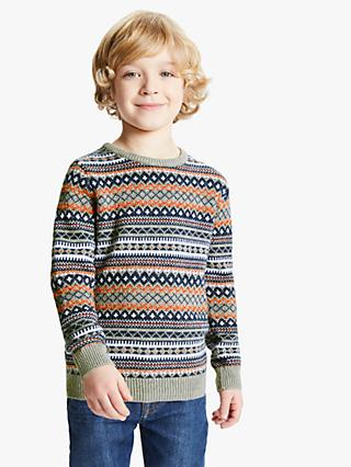 John Lewis & Partners Boys' Fairisle Knit Jumper, Multi