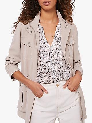 Mint Velvet Studded Jacket, Beige