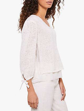 Mint Velvet Tape Yarn Top, Ivory
