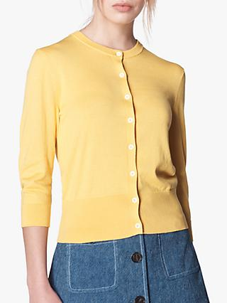 L.K.Bennett Aila 3/4 Length Sleeve Cardigan, Yellow