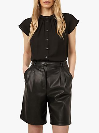 Warehouse Sheer Cap Sleeve Shirt