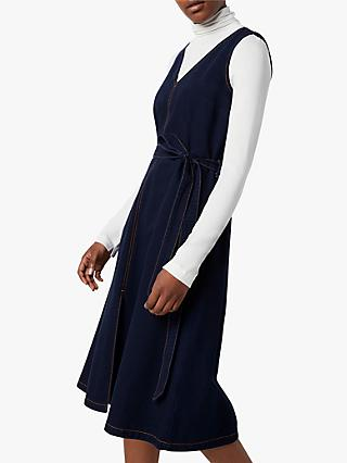 French Connection Pulika Belted Denim Dress, Raw Blue