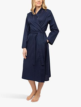 Nora Rose by Cyberjammies Scarlett Jacquard Dressing Gown, Navy