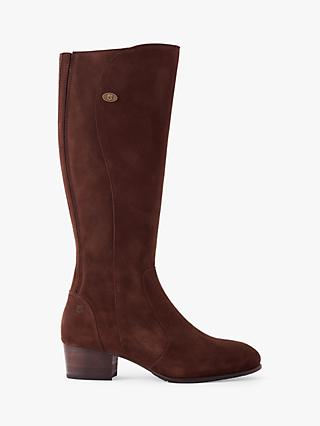 Dubarry Patrick Suede Knee High Boots, Cigar