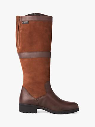 Dubarry Sligo Leather Zip Knee High Boots, Walnut