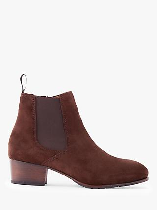 Dubarry Bray Suede Zip Chelsea Boots, Brown