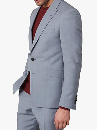 Jaeger Single Breasted Slim Fit Wool Suit Jacket, Grey