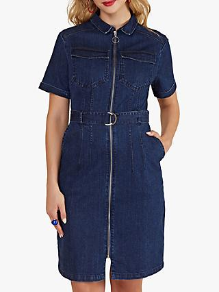 Yumi Denim Shirt Dress, Blue