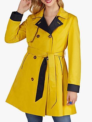 Yumi Herringbone Coat, Navy at John Lewis & Partners