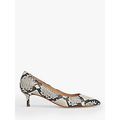 L.K.Bennett Harlow Leather Pointed Kitten Heel Court Shoes, Multi