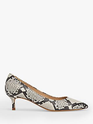 L.K.Bennett Harlow Leather Pointed Kitten Heel Court Shoes, Multi