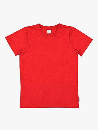Polarn O. Pyret Children's Treasure Island Burnout T-Shirt, Red