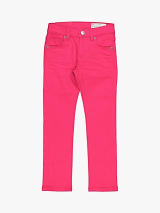 Polarn O. Pyret Children's Twill Trousers, Pink