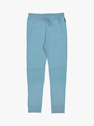 Polarn O. Pyret Children's GOTS Organic Cotton Quilted Joggers, Blue