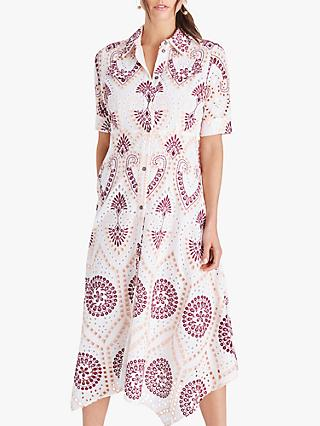 Damsel in a Dress Kaylor Shirt Abstract Midi Dress, Multi