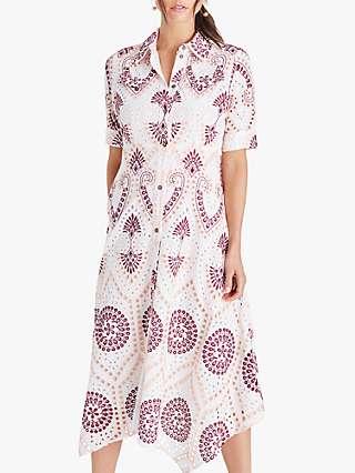 Damsel in a Dress Kaylor Shirt Abstract Midi Dress, Multi