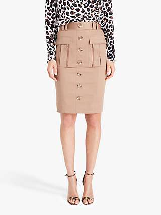 Damsel in a Dress Fifi Buttoned Mini Skirt, Neutral