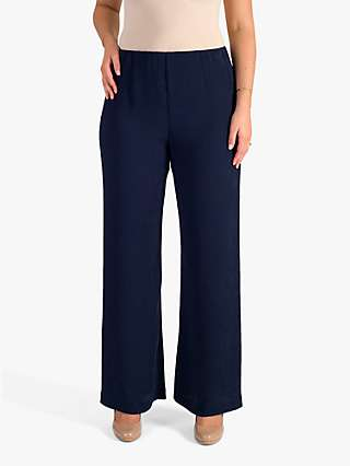 Chesca Crinkle Trousers, Navy