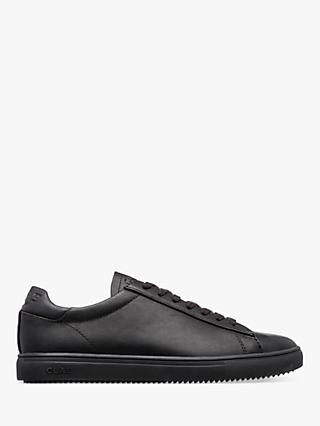 CLAE Bradley Essentials Water Repellent Leather Trainers, Black