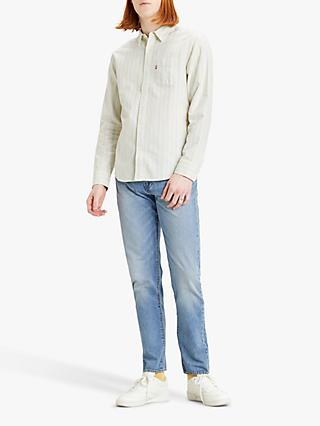 Levi's Sunset One Pocket Standard Fit Striped Shirt, Hauyne Tofu