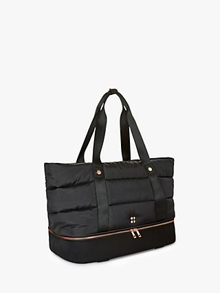 Sweaty Betty Icon Luxe Gym Bag, Black