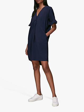 Whistles Alba Shift Dress, Navy