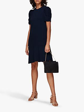 Whistles Georgina A-Line Dress, Navy