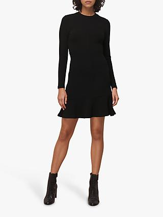 Whistles Ottoman Mini Dress, Black