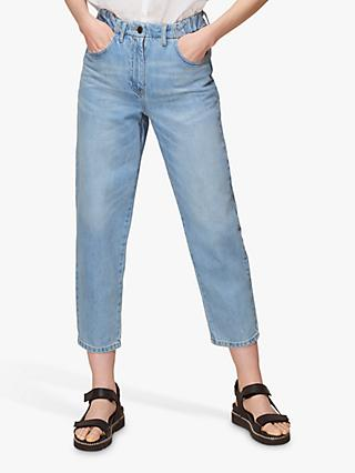 Whistles Elasticated Waist Soft Jeans, Denim