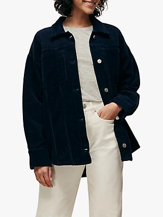 Whistles Utility Cord Jacket, Navy