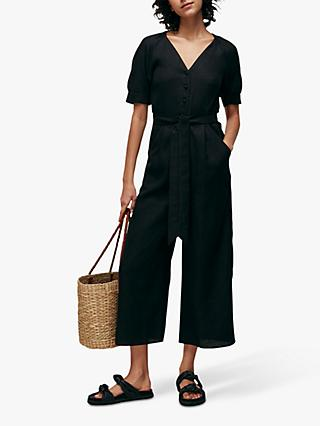 Whistles Nora Jumpsuit, Black