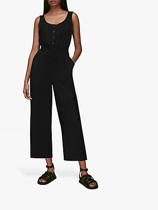 Whistles Quinn Jumpsuit, Black