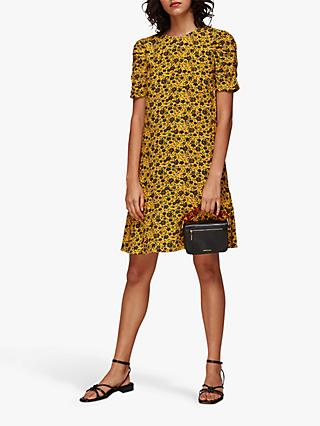 Whistles Trailing Daisy Mini Dress, Yellow
