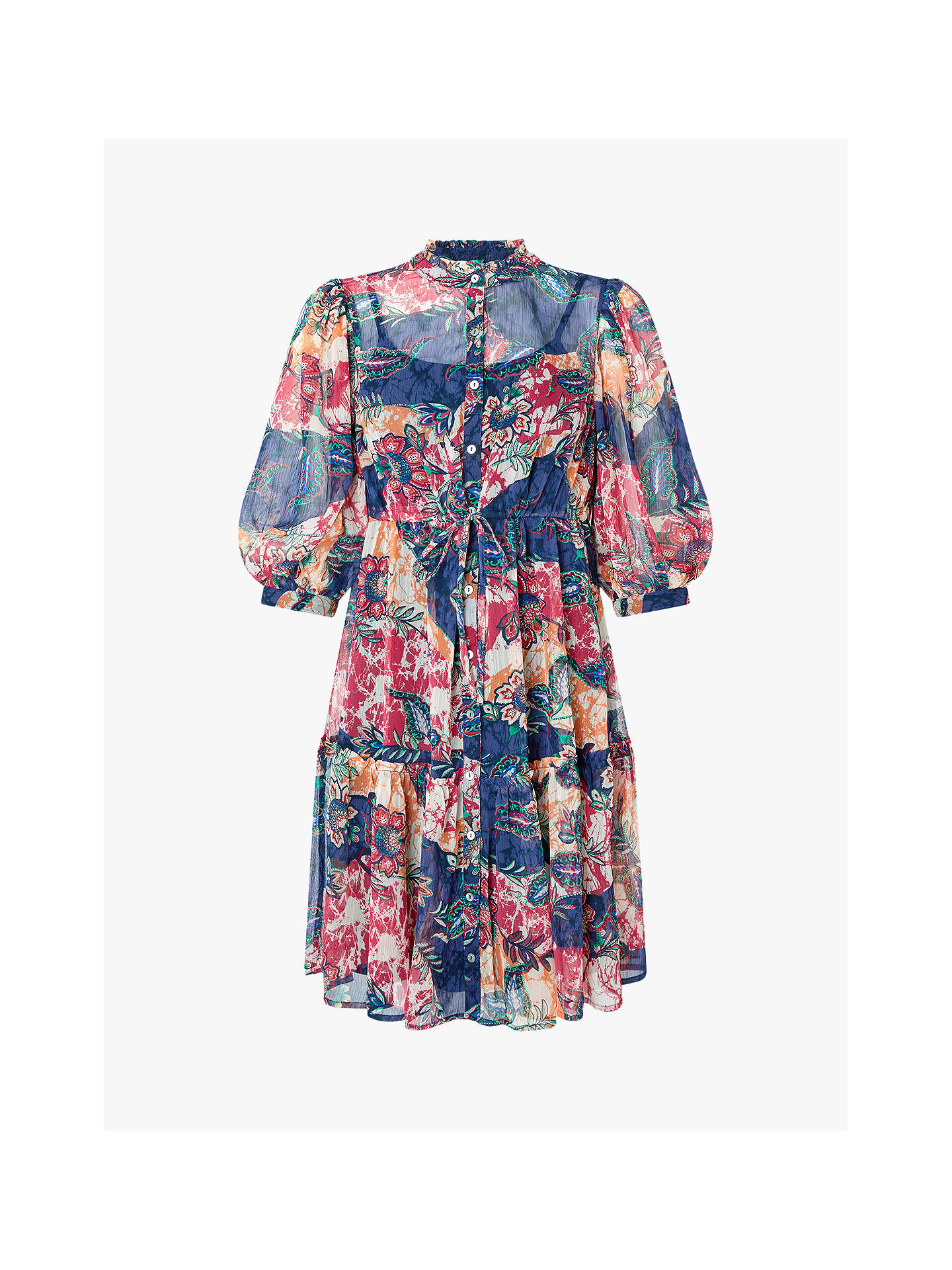 Buy Monsoon Arjana Abstract Mini Dress, Navy, S Online at johnlewis.com