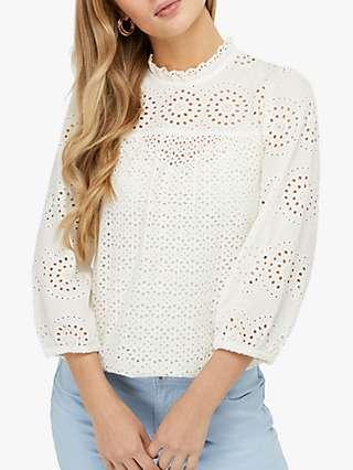 Monsoon Rachel Pretty Lace Shirt, Ivory
