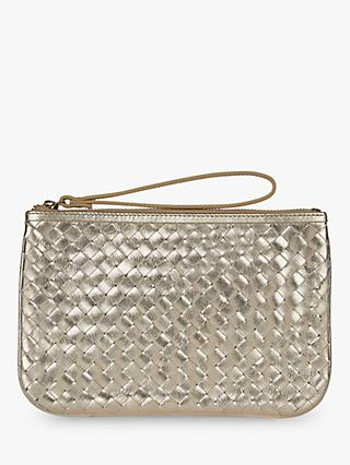 Hobbs Paisley Clutch Bag, Metallic