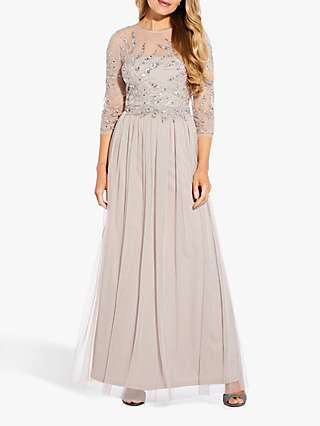 Adrianna Papell Sequined Bodice Maxi Dress, Marble