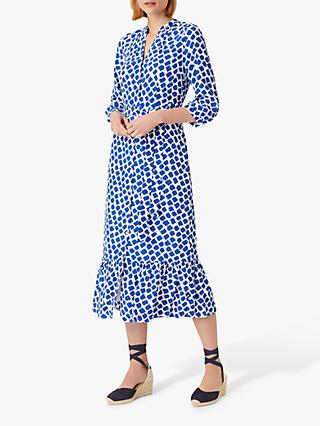 Hobbs Magda Shirt Dress, Cobalt/White